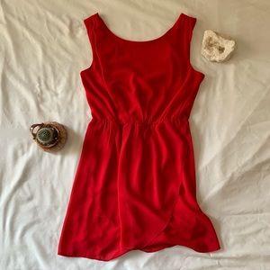 🔵Scoop Neck Red Dress